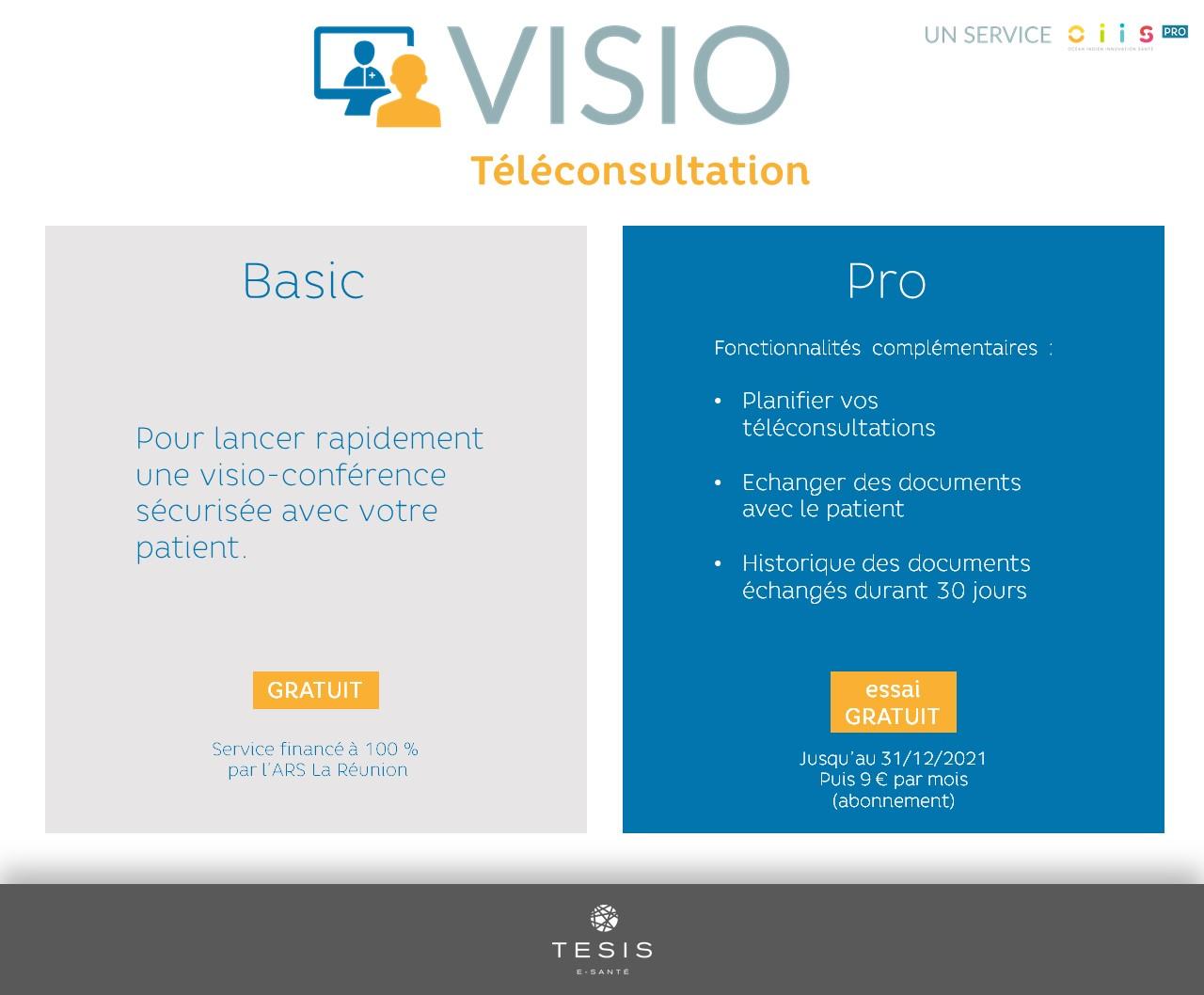VISIO Basic vs. VISIO Pro : la téléconsultation s'adapte à vos besoins