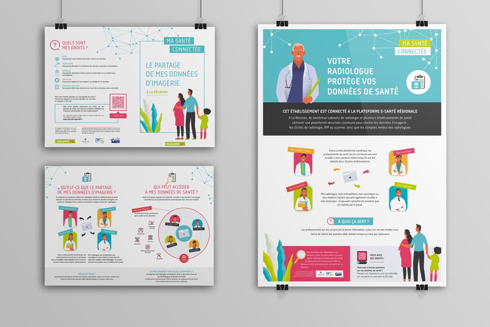 RGPD et Santé - Bien informer les patients de leurs droits : l'exemple du partage des données d'imagerie médicale à La Réunion. Une affiche, des dépliants d'information, et une page web pour exercer ses droits.