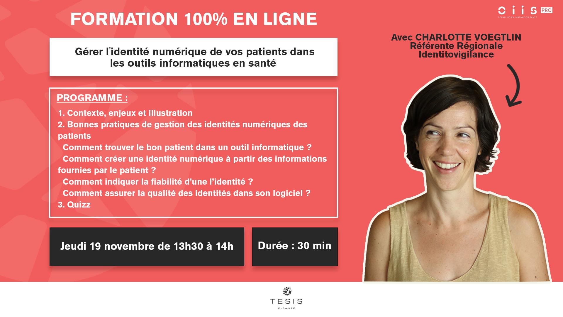 Charlotte voegtlin référente identitovigilante à La Réunion